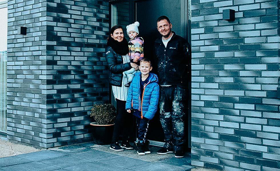 Familie har bygget deres drømmehus
